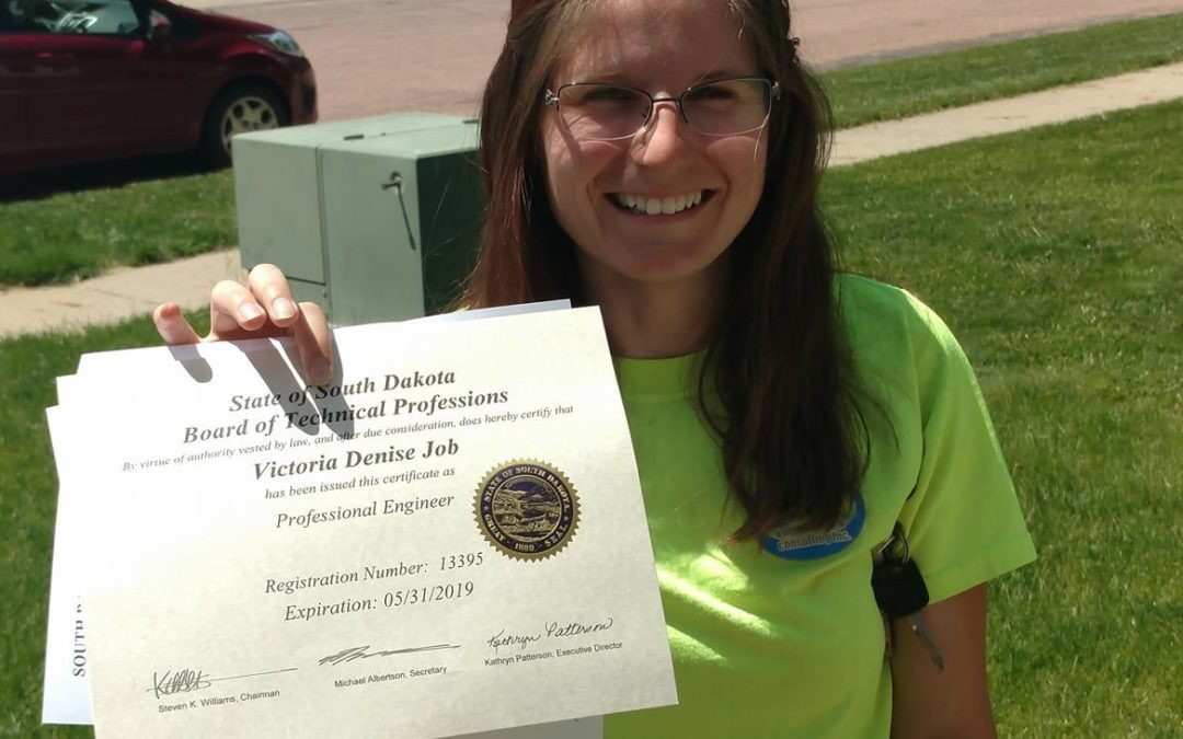 Victoria Receives Professional Engineering License